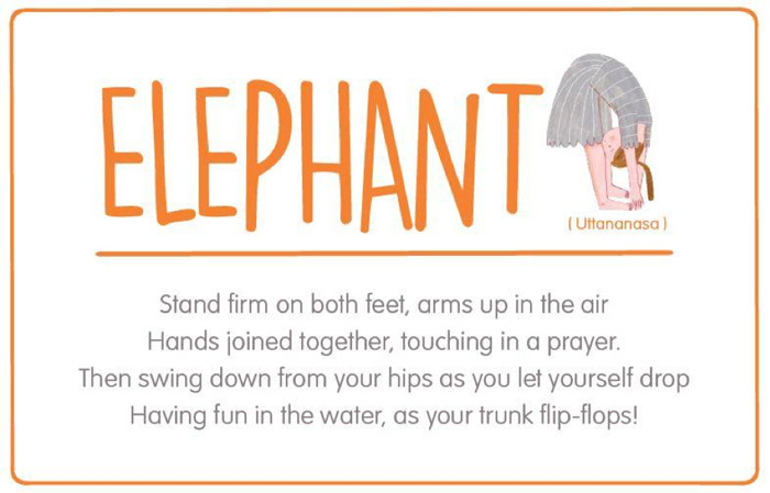 Elephant yoga pose for kids