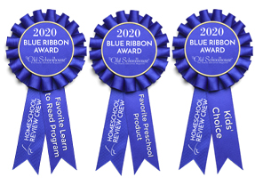 Homeschool Review Crew 2020 Blue Ribbon Award Winner