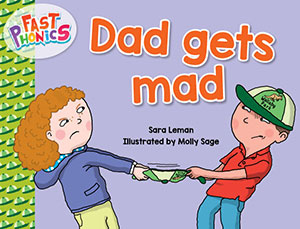 Dad gets mad decodable book