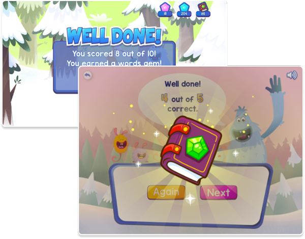 Fast Phonics games rewards