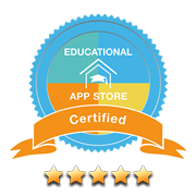 Educational App Store Certified 5 stars rating