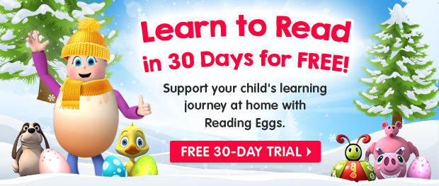 Learn to Read in 30 Days for FREE. Support your child's learning journey at home with Reading Eggs. Free 30-Day Trial