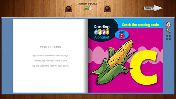 Reading Eggs e-book example